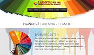 WEBOVÁ STRÁNKA LAKMETAL spol. s r.o. Prášková lakovna - Komaxit Opava