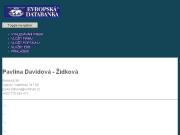 WEBOVÁ STRÁNKA Pavlína Davidová - Žídková