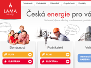 WEBOVÁ STRÁNKA LAMA energy a.s.