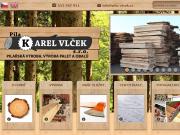 WEBOVÁ STRÁNKA PILA Karel Vlček s.r.o. Pilařská výroba, výroba palet a obalů