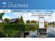 WEBOVÁ STRÁNKA Městys Litultovice Úřad městyse