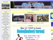 WEBOVÁ STRÁNKA Obec Valšov Obecní úřad