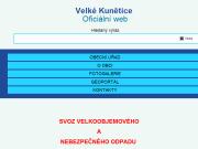 WEBOVÁ STRÁNKA Obec Velk� Kun�tice Obecn� ��ad