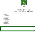WEBOVÁ STRÁNKA Obec Hradec - Nová Ves Obecní úřad
