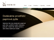 WEBOVÁ STRÁNKA SACK CZ s.r.o. prvotřídní papírové pytle