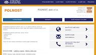 WEBOVÁ STRÁNKA POLNOST, spol. s r.o.