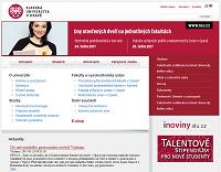 WEBOVÁ STRÁNKA Slezská univerzita v Opavě