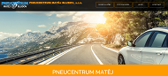 WEBSITE PNEUCENTRUM MATEJ BLUDOV, s.r.o.