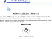 WEBOVÁ STRÁNKA VK - AQUA OLOMOUC, spol. s r.o.