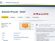 WEBOVÁ STRÁNKA Antonín Prucek - Selet