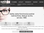 WEBOVÁ STRÁNKA Optika Jaroslava Korcinová