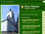 WEBOVÁ STRÁNKA Obecní úřad Maletín