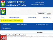 WEBOVÁ STRÁNKA Obec Lutín Obecní úřad