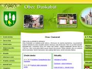 WEBOVÁ STRÁNKA Obec Daskabát Obecní úřad