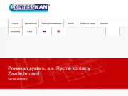 WEBOVÁ STRÁNKA PRESSKAN system, a.s.