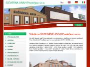 WEBOVÁ STRÁNKA SLÉVÁRNA ANAH Prostějov, s.r.o.