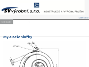 WEBOVÁ STRÁNKA SV výrobní, s.r.o.