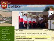 WEBOVÁ STRÁNKA Obec Slatinky