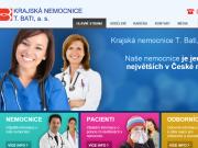 WEBOVÁ STRÁNKA Krajská nemocnice T. Bati, a. s. Baťova nemocnice