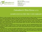 Strona (witryna) internetowa Zahradnictvi Brno Kresa s.r.o.