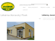 WEBOVÁ STRÁNKA Lékárna Moravský Písek Vodohospodářské stavby Javorník-CZ s.r.o