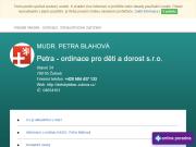WEBOVÁ STRÁNKA Petra - ordinace pro děti a dorost s.r.o. MUDr. Petra Blahová