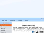 WEBOVÁ STRÁNKA Obec Tečovice