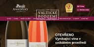 WEBOVÁ STRÁNKA VINAŘSTVÍ VALTICKÉ PODZEMÍ s.r.o. Firemní vína, víno jako dárek
