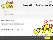 WEBOVÁ STRÁNKA Taxi Ali s.r.o. Nonstop přeprava osob Mladá Boleslav