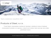 WEBOVÁ STRÁNKA Products of Steel, s.r.o.