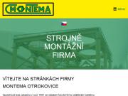 WEBOVÁ STRÁNKA MONTEMA, spol. s r.o.