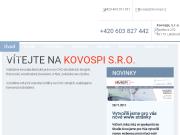 WEBOVÁ STRÁNKA KOVOSPI, s.r.o.