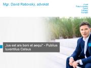 WEBOVÁ STRÁNKA Mgr. David Rašovský, advokát