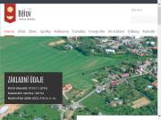 WEBOVÁ STRÁNKA Obecní úřad Bělov Obec Bělov