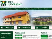 SITO WEB Obecni urad Lutopecny Obec Lutopecny