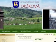 SITO WEB Obecni urad Drzkova Obec Drzkova
