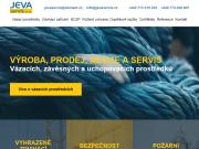 WEBOVÁ STRÁNKA Jeva servis s.r.o., Výroba a prodej vázacích prostředků