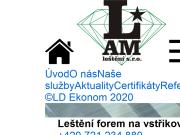 WEBOVÁ STRÁNKA LAM leštění s. r. o.