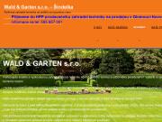 WEBOVÁ STRÁNKA Wald & Garten s.r.o. (Šindelka)