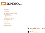 WEBOVÁ STRÁNKA SONDEO s.r.o.