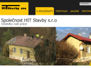 WEBOVÁ STRÁNKA HIT Stavby s.r.o.