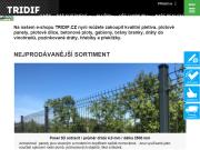WEBOVÁ STRÁNKA TRIDIF, obch. výr. společnost, s.r.o.