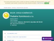 WEBOVÁ STRÁNKA Pediatrie Komínková s.r.o.