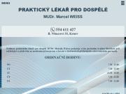 WEBOVÁ STRÁNKA MUDr. Marcel Weiss WEMED s.r.o.