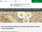 WEBOVÁ STRÁNKA Zemědělský výzkumný ústav Kroměříž, s.r.o.
