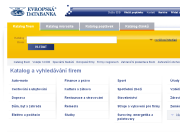 Strona (witryna) internetowa Evropska databanka a.s.
