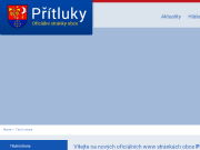 WEBOVÁ STRÁNKA Obec Přítluky