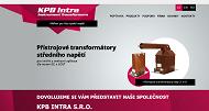 WEBOVÁ STRÁNKA KPB INTRA s.r.o.