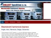 WEBOVÁ STRÁNKA Collect Spedition s.r.o. Mezinárodní kamionová doprava