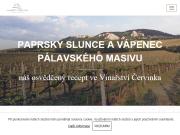 WEBOVÁ STRÁNKA Vinařství a penzion Červinka